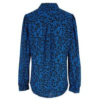 Blue Ditsy Floral Long Sleeve Shirt New Look
