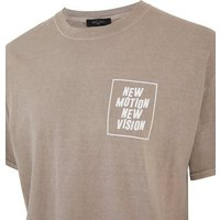 Men's Stone New Motion Box Slogan T-Shirt New Look