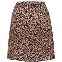 Brown Leopard Wrap Mini Skirt New Look