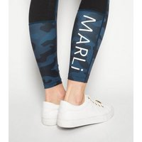 MARLi Sport Blue Camo Leggings New Look