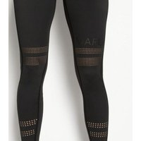 MARLi Sport Black Stripe Laser Cut Leggings New Look