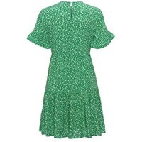 Green Ditsy Floral Frill Sleeve Smock Dress New Look