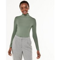Green Roll Neck Long Sleeve Top New Look