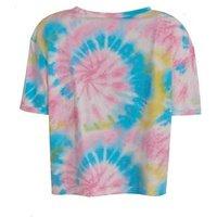 Cameo Rose Pink Tie Dye Crew T-Shirt New Look