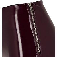 Burgundy Vinyl Leggings New Look