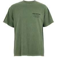 Olive New Mention Slogan T-Shirt New Look