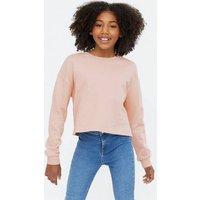Girls Pale Pink Crew Neck Sweatshirt New Look