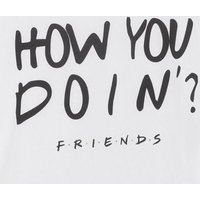 Girls White Friends How You Doin' Slogan T-Shirt New Look