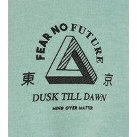 Light Green Fear No Future Slogan Oversized T-Shirt New Look