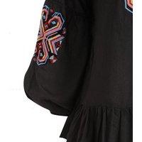 Sunshine Soul Black Geometric Tie Tassel Top New Look