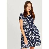 Apricot-Blue-Tie-Dye-TShirt-Dress-New-Look