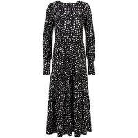 Blue Vanilla Black Spot Smock Midi Dress New Look