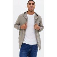 Men's Pale Grey Pocket Front Zip Up Hoodie New Look