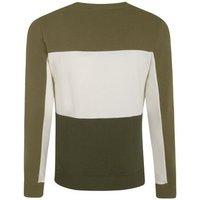 Olive Colour Block Jersey Sweatshirt New Look