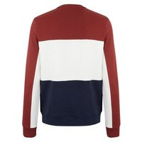 Dark Red Colour Block Jersey Sweatshirt New Look
