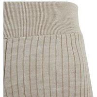Cream Ribbed Knit Shorts New Look