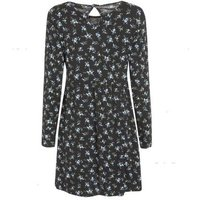 Wednesday's Girl Blue Floral Long Sleeve Dress New Look