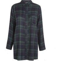 Wednesday's Girl Navy Check Shirt Dress New Look
