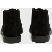 Men's Black Lace Up Desert Boots New Look