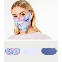 3 Pack Multicoloured Tie Dye Reusable Face Coverings New Look