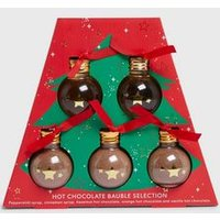 Multicoloured Hot Chocolate Christmas Bauble Set New Look