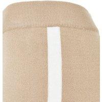 Camel Stripe Side Tie Waist Joggers New Look