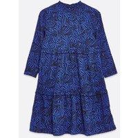 Tall-Blue-Zebra-Print-Tiered-Smock-Dress-New-Look