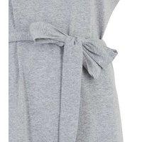 Cameo Rose Pale Grey Shoulder Pad Mini Dress New Look