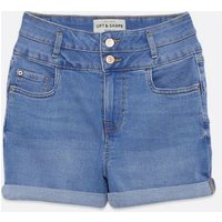 Bright Blue Denim 'Lift & Shape' Shorts New Look