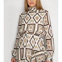 Gini London White Floral Square Asymmetric Midi Dress New Look