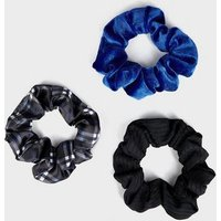Girls 3 Pack Multicoloured Check Scrunchies New Look