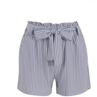 Pink Vanilla Blue Stripe High Waist Shorts New Look