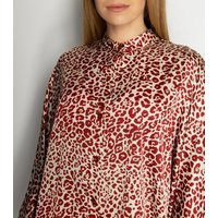 Gini London White Leopard Print Shirt Dress New Look