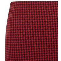 Red-Jacquard-Check-Mini-Tube-Skirt-New-Look