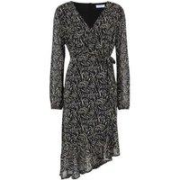 Blue Vanilla Black Zebra Print Asymmetric Dress New Look