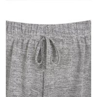 Pale Grey Fine Knit Elasticated Shorts New Look