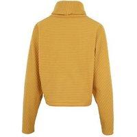 Mustard Ribbed Knit Roll Neck Boxy Jumper New Look
