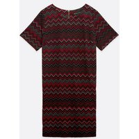 Mela Curves Red Chevron Tunic Dress New Look