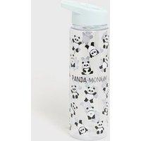 Green Panda-Monium Flip Straw Water Bottle New Look