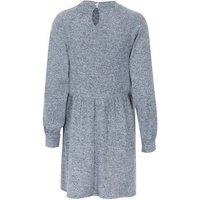 Grey Fluffy Puff Sleeve Smock Dress New Look