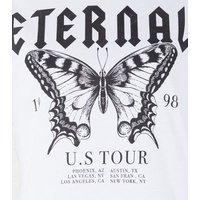 Petite White Eternal Butterfly Slogan T-Shirt New Look