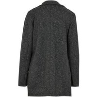 Mela Dark Grey Textured Jacket New Look