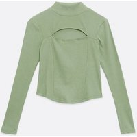 NA-KD Light Green Cut Out Top New Look