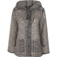 Urban Bliss Brown Leopard Print Jacket New Look