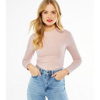 3-Pack-Pink-Black-and-White-Frill-Trim-Tops-New-Look