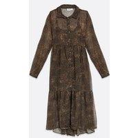 Noisy May Leopard Smock Midi Dress New Look