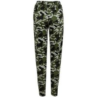 Green Camo Jersey Joggers New Look