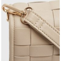 Off White Leather-Look Woven Cross Body Bag New Look