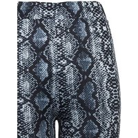 Petite Blue Snake Print Flared Trousers New Look