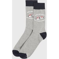 Men's Grey Marl Snowman Christmas Socks New Look